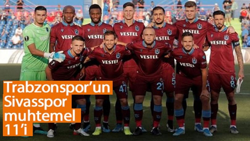 Trabzonspor, Sivas Deplasmanında! Muhtemel 11'ler