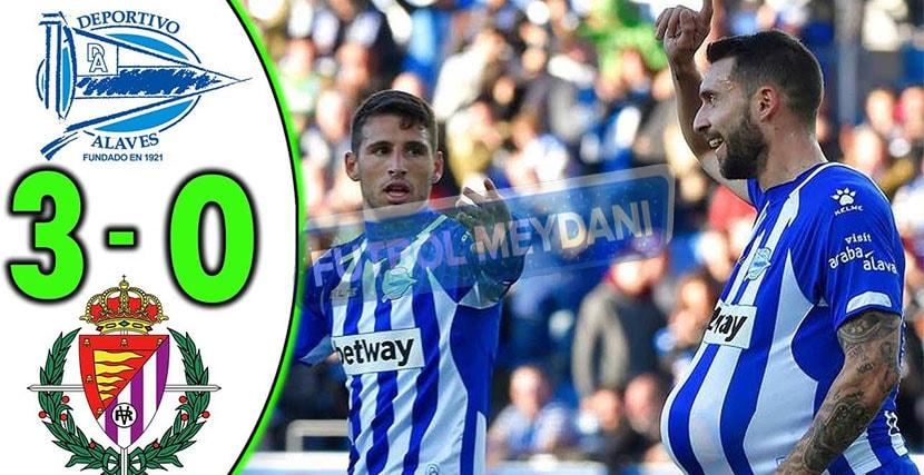 Deportivo Alaves Real Valladolid 3-0 Maç Sonucu