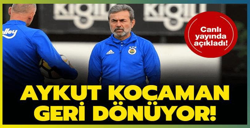 Aykut Kocaman, Yeniden Fenerbahçe'ye Dönecek İddiası